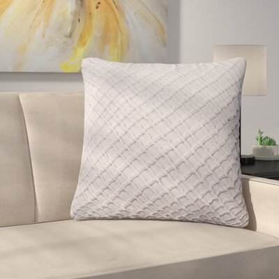 Lao Velvet Throw Pillow Color: Gray