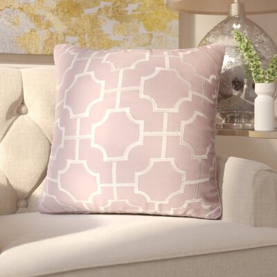 Fiorini Embroidered Geometric Throw Pillow Color: Nirvana Silver