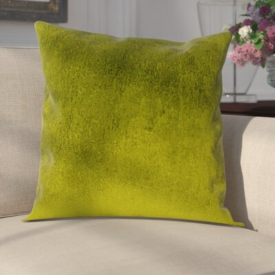 Delrick Luster Throw Pillow Color: Olive Green