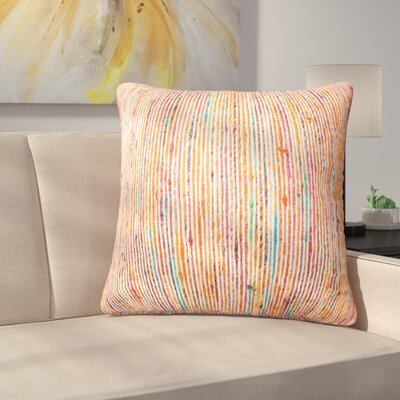 Gagne Throw Pillow Color: Rust/Multi