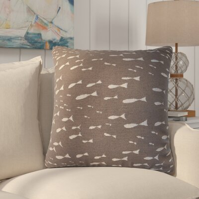 Sunbury Minnow Throw Pillow Size: 24 x 24, Color: Pebble Beach / Chocolate