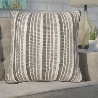 Mastropietro Stripe Foil Printed Cotton Throw Pillow Color: Vapor Silver