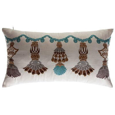 India Tassels Outdoor Lumbar Pillow