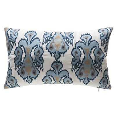Indigo Tribal Outdoor Lumbar Pillow Color: White/Blue