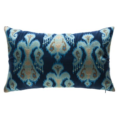Indigo Tribal Outdoor Lumbar Pillow Color: Blue