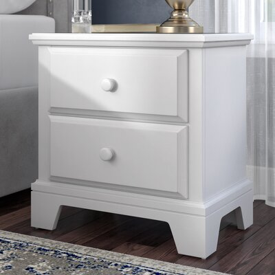 Cedar Drive 2 Drawer Nightstand Color: Snow White