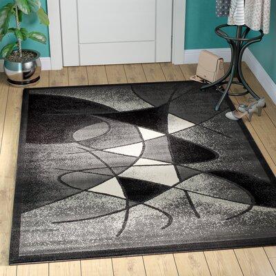 Schaefer Swirl Gray Area Rug Rug Size: 710 x 102