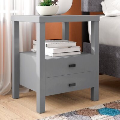 Sardina 2 Drawer Nightstand Color: Gray