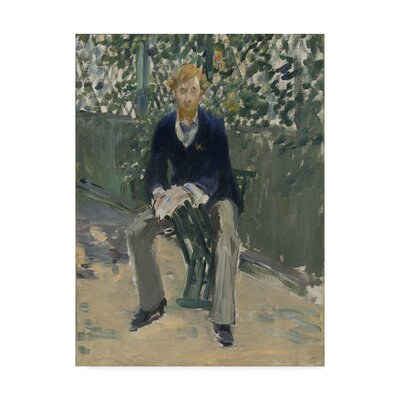 'George Moore in the Artists Garden' by EdouArd MAnet Oil Painting Print on Wrapped Canvas BL01981-C1419GG