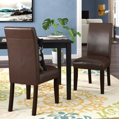 Aranson Parsons Chair Upholstery: Brown