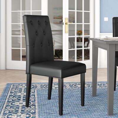 Androscogin Side Chair Finish: Black