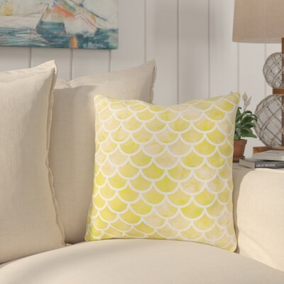 Nunberg Mermaid Scales Throw Pillow Size: 16 x 16, Color: Yellow