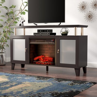 Kastel Media Infrared Electric Fireplace Finish: Black