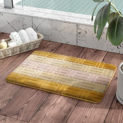 Barbosa Spa Bath Rug Size: 17W x 24L, Color: Gold