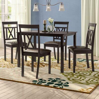 Whitbey Modern and Contemporary 5 Piece Breakfast Nook Dining Set