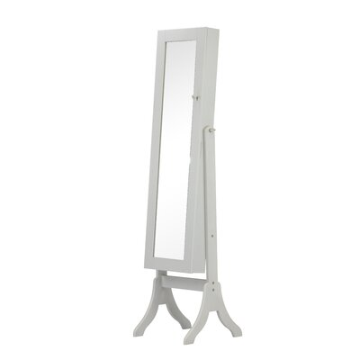 Charlotte Jewelry Armoire with Mirror Finish: Gray