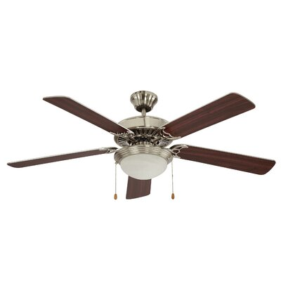52 Rhone 5 Blade Ceiling Fan Finish: Brushed Nickel