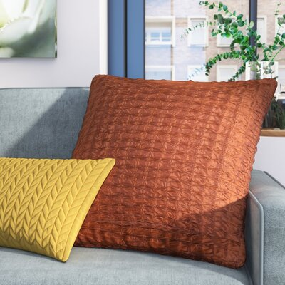 Morillo Pillow Cover Size: 22 H x 22 W x 0.25 D, Color: Rust