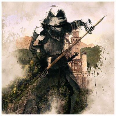 'The Warrior' Oil Painting Print 588812E27681400A835D4E6F015C9AA5