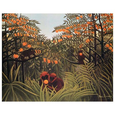 'Apes in the Orange Grove' Oil Painting Print BF11010CC2014EE7B6B06DBCCCA4318E