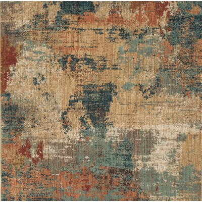 Meinhardt Beige/Blue Area Rug Rug Size: Rectangle 5 x 7