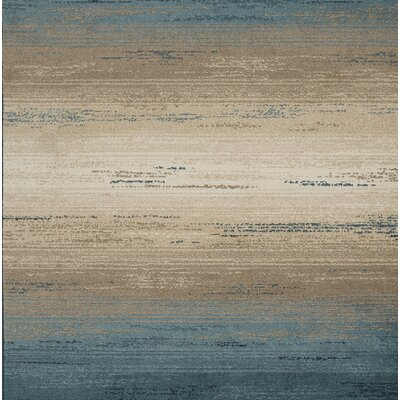 Elfrida Blue/Tan Area Rug Rug Size: Rectangle 51 x 75