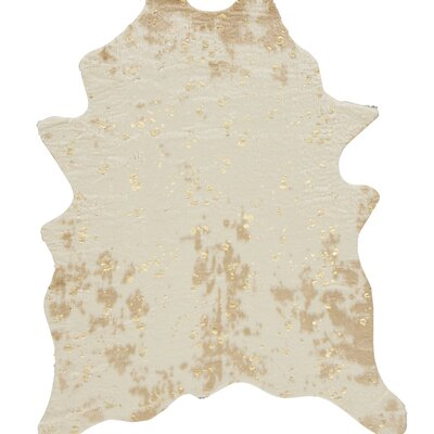 Pilla Ivory/Brown Area Rug