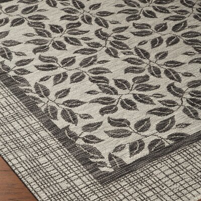 Rhames Tan/Gray Area Rug Rug Size: Rectangle 53 x 73