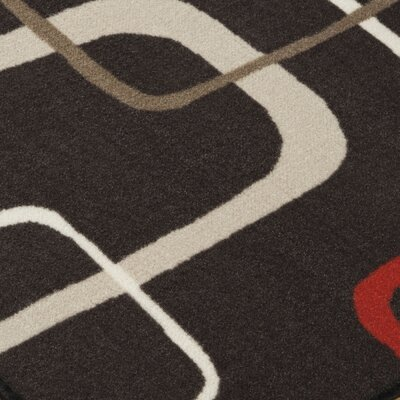 Grisham Black/Red Area Rug