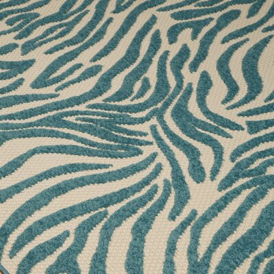 Raymo Turquoise Indoor/Outdoor Area Rug Rug Size: Rectangle 53 x 75