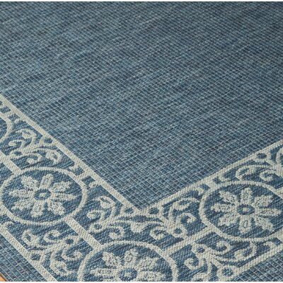 Rhawnhurst Blue/Tan Area Rug Rug Size: Rectangle 53 x 73