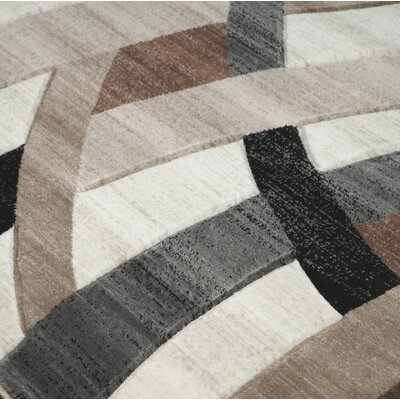 Meisner Brown Area Rug Rug Size: Rectangle 5 x 67
