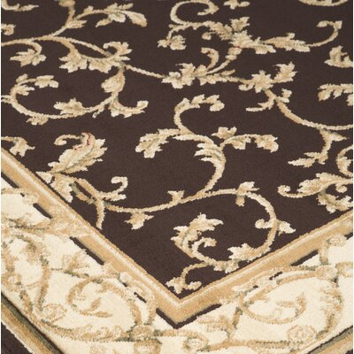 Kohan Brown/Gold Area Rug Rug Size: Rectangle 76 x 96