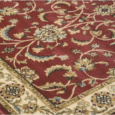 Kohl Red/Brown Area Rug Rug Size: Rectangle 76 x 96