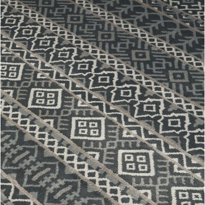 Reagle Black/Tan Area Rug Rug Size: Rectangle 710 x 910