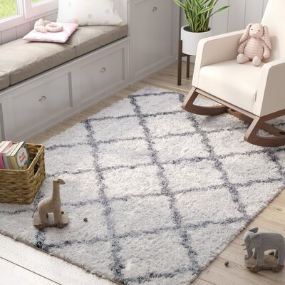 Abbey Ivory Gray Area Rug Rug Size: 79 x 10