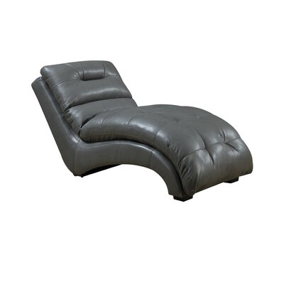Dillman Chaise Lounge Upholstery: Gray