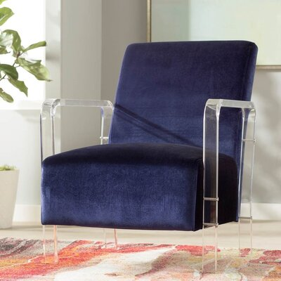 Everson Armchair Upholstery: Blue