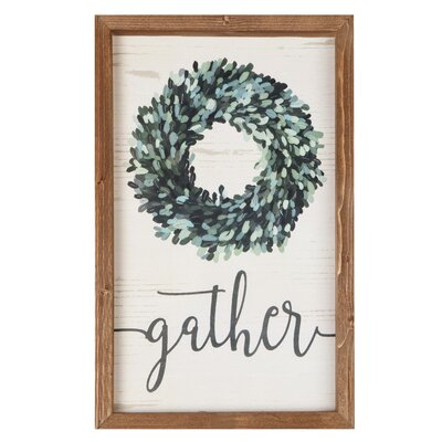'Gather' Framed Textual Art on Wood