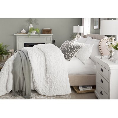 Nielsen Upholstered Panel Bed Size: King, Color: Beige