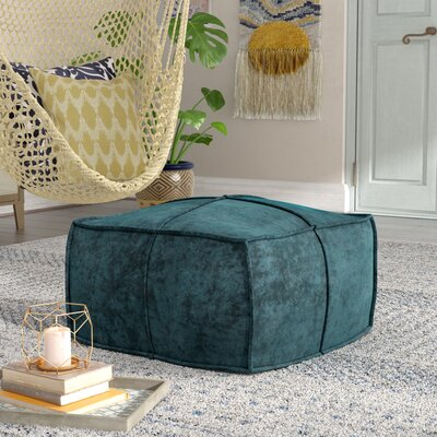 Calista Pouf Upholstery: Teal