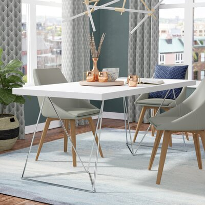 Durkee Dining Table Finish: Pure White, Size: 71