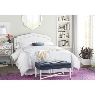 Andy Upholstered Panel Headboard Size: Queen, Upholstery Color: White