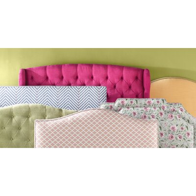 Erkerd Notched Border Upholstered Panel Headboard Size: Queen