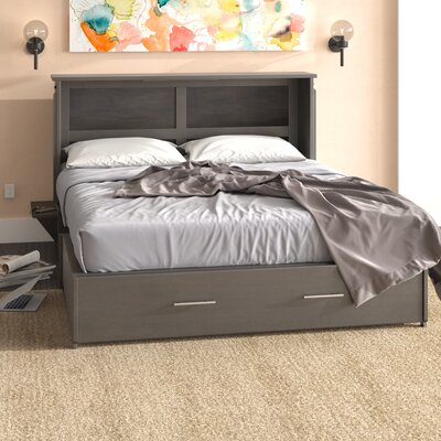Edmeston Queen Storage Murphy Bed with Mattress Color: Gray Stonewash