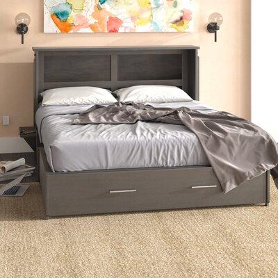 Edmeston Queen Storage Murphy Bed with Mattress Color: Gray Stonewash