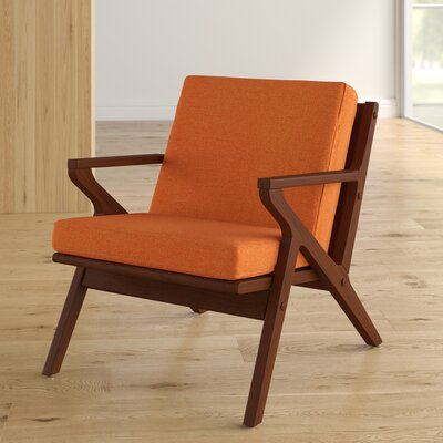Mae Leisure Armchair Upholstery: Orange