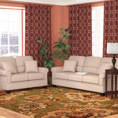 Boyster 2 Piece Living Room Set Upholstery: Sand