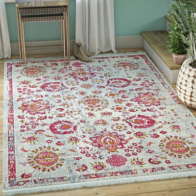 Lonerock Smooth European Pink Area Rug Rug Size: Rectangle 43 x 6