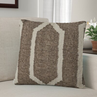 Centerburg Wool Throw Pillow Color: Linen